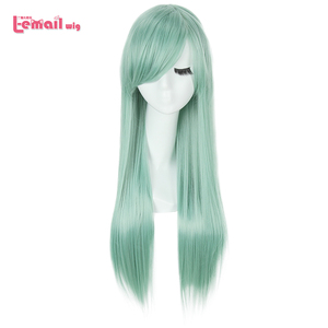 Image 1 - L email wig The Seven Deadly Sins Cosplay Wigs Elizabeth Liones Wig Long Green Straight Women Synthetic Hair Cosplay Wig