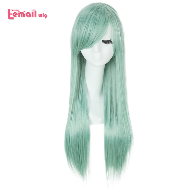L email wig The Seven Deadly Sins Cosplay Wigs Elizabeth Liones Wig Long Green Straight Women Synthetic Hair Cosplay Wig