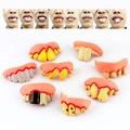 8 estilos diferentes Apetrechos Dentes Gnarly Conjunto de 8 Piadas Gag brinquedos Novidade brinquedos para o Brinquedo adereços