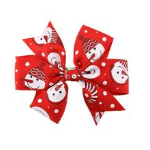 Newest Christmas Decorative Girls Christmas Hair Accessories For Girls Infant Hairpin Levert Dropship C7803#