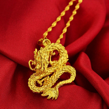 Pure Gold Color Dragon Necklaces