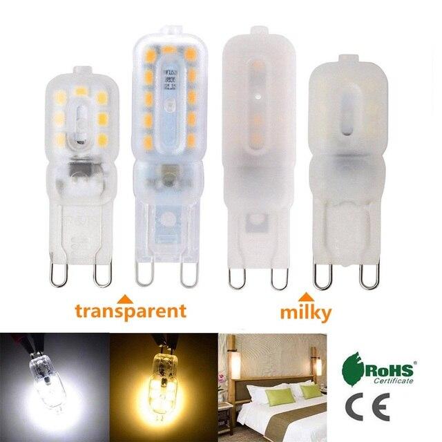 mini g9 led ma s lumi re dimmable smd2835 3 w 5 w ampoule spotlight pour lustre 14 led 22 led ac. Black Bedroom Furniture Sets. Home Design Ideas