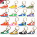 Mix 16pcs/lot Cute New Balanceer 574 Key Chain Jordan Keychain, Silicone Sneaker Keychain Kids Key Rings Women Key Holder