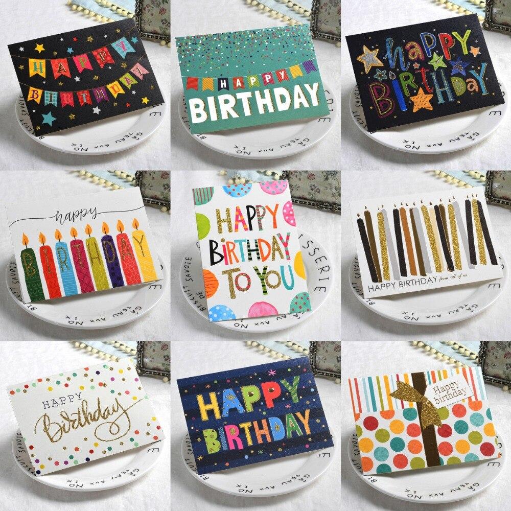 US $10 44 OFF Glitter Selamat Ulang Tahun Kartu Ucapan Ulang Tahun Pesta Banner Hadiah Pesan Kartu Ulang Tahun Kartu & Undangan