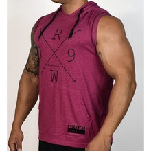 Mens Gyms Hoodie Singlets Sweatshirts sleeveless hoodies Stringer Bodybuilding Fitness male waistcoat Shirts Casual hoodies