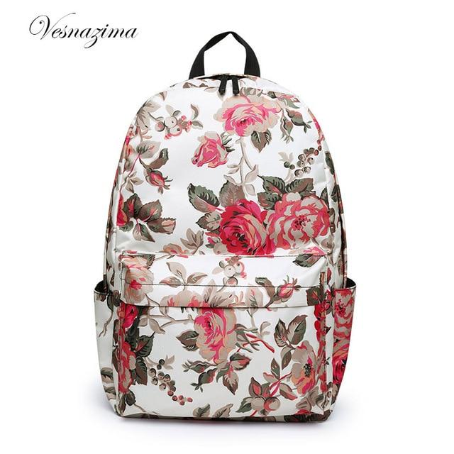 eeec8dc4c065 ВЕСНАЗИМА рюкзак в розах для женщины городской женский рюкзак текстильные  рюкзаки для женщин городские рюкзаки для