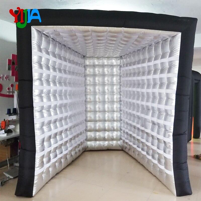 Agradável Moda Photo booth Sem luzes do tubo Portátil Foto ambos os cenários com interior ventilador de ar para o partido Decoração do casamento