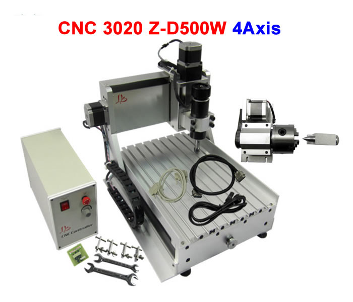 No tax to Russia,DIY cnc router machine 3020 4 axis carving machine 500w,used in Industrial or Hobby no tax to russia miniature precision bench drill tapping tooth machine er11 cnc machinery