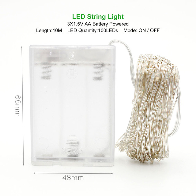 Waterproof Wire Lights For Christmas Festive Party Supplies