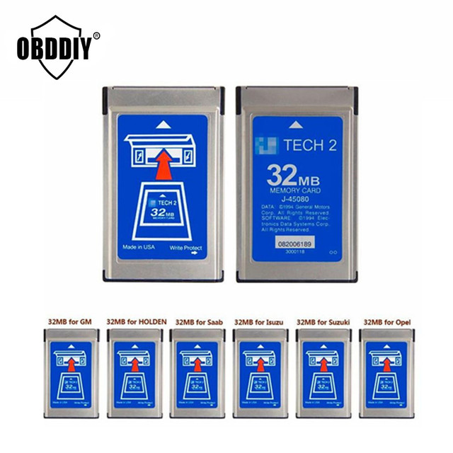 GM Tech2 32 MB Memory Card GM Tech 2 Card For GM/Holden/Isuzu/Opel/Saab/Suzuki tech2 32mb Memory card , Tech 2 memory card
