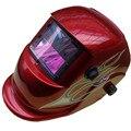 Energía Solar variable automática luz máscara de soldadura soldadura alambre de LCD espejo mascarilla facial leds máscara por soldadura con lente 10 bolsas