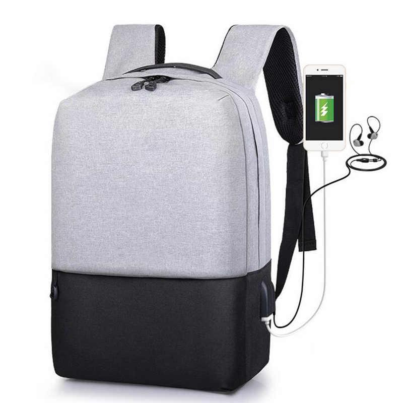 Mochila Oxford con puerto de carga USB para hombres mochila duradera para estudiantes universitarios se adapta a una mochila portátil de hasta 14 pulgadas