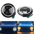 7 Дюймов LED Halo Фары Глаза Ангела Для Jeep Wrangler JK CJ Daymaker с Halo и DRL & Включите Сигнальные Огни 40 Вт для Jeep JK ЖЖ