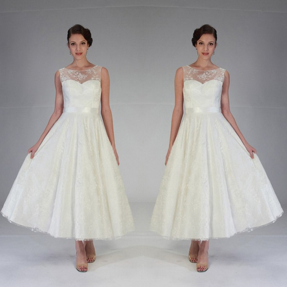 Cheap china wedding dresses 2015 vintage 1950s style ivory lace cheap china wedding dresses 2015 vintage 1950s style ivory lace tea length wedding dresses modest bridal dress in wedding dresses from weddings events ombrellifo Choice Image