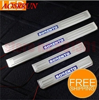 Free Shipping LED Stainless Steel Door Sill Scuff Plate For KIA Sorento 2008 2009 2010 2011