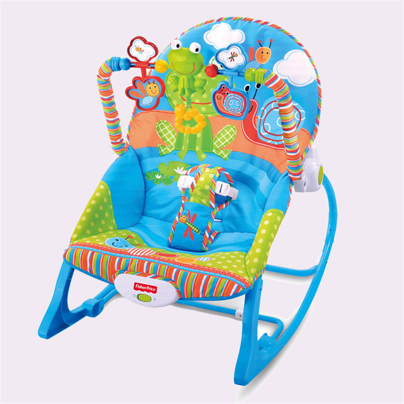 Bébé musique secouant chaise berçante infantile apaiser videurs, sauteurs et balançoires bébé inclinable approprié et sûr