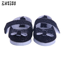 The black cloth shoes, suitable for 14.5inch American  doll,  the best Christmas gift give children n1099