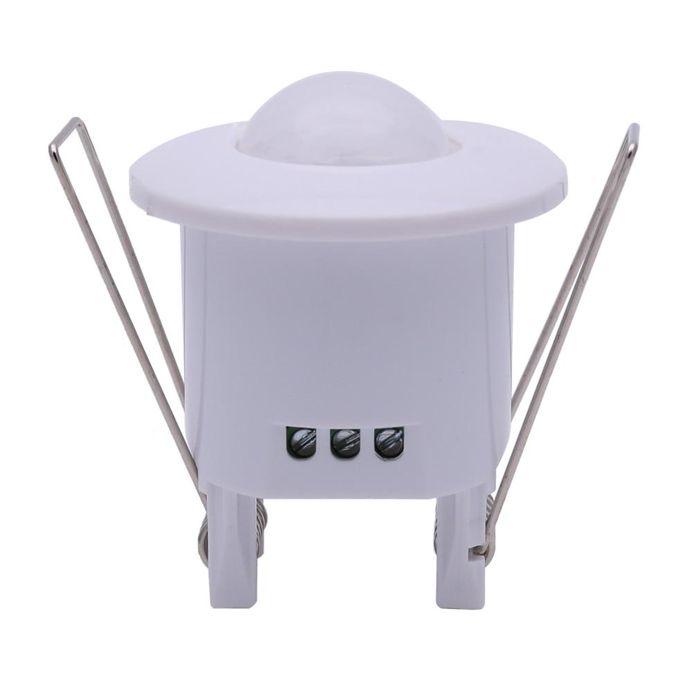 220V AC Mini Adjustable 360 Degree Ceiling PIR Infrared Body Motion Sensor Detector Lamp Light Switch White free shipping newest time delay adjustable ac110v motion sensor light switch 360 degree pir infrared light sensor 1pc