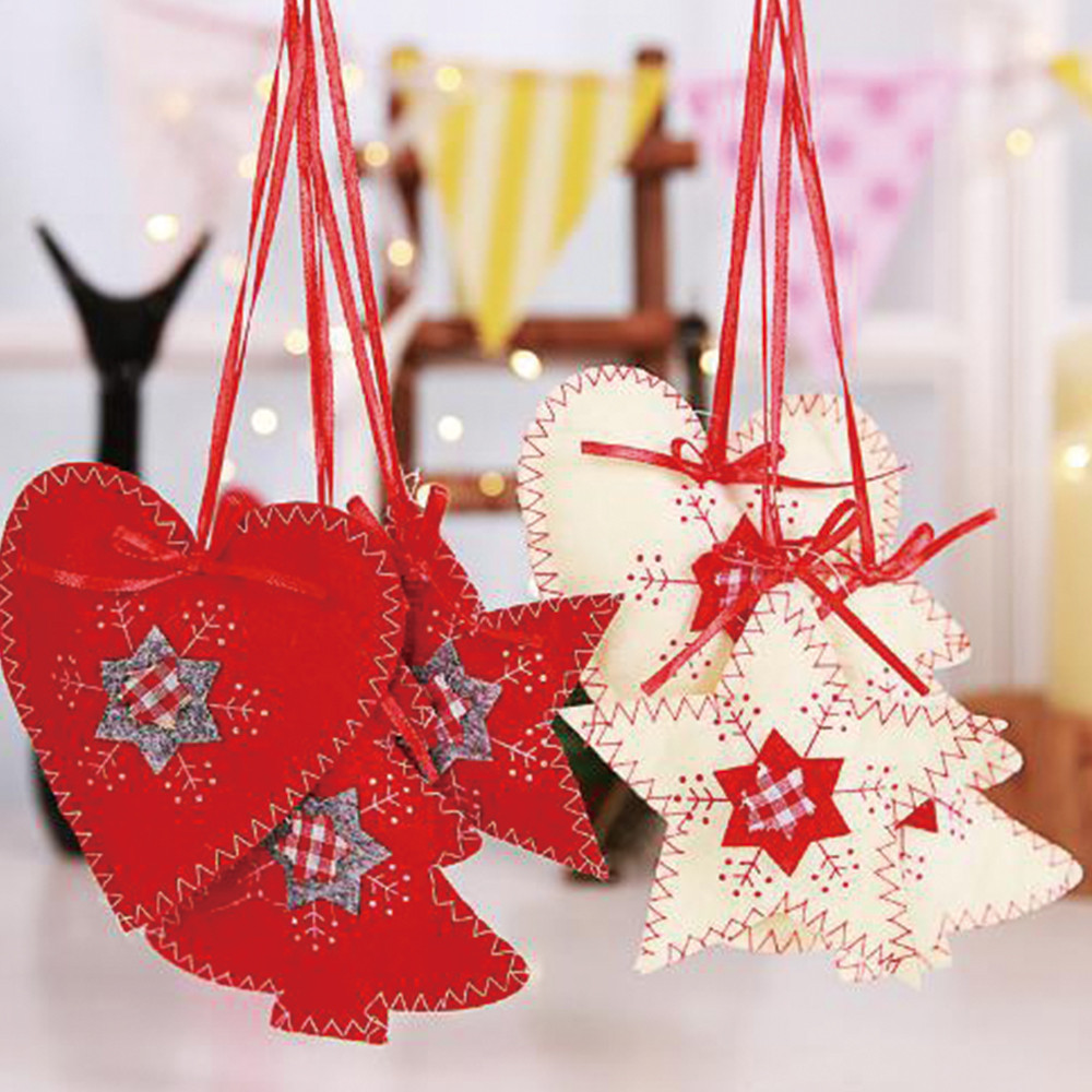 New Year Christmas Tree Decoration Non woven Sewing ...