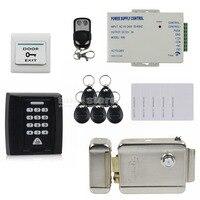 Door Bell Button Electric Lock 125KHz RFID Password Keypad Access Control System Security Kit Door Lock
