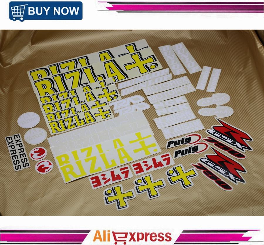 Motorcycle RIZLA GSXR Fairing <font><b>Stickers</b></font> For <font><b>Suzuki</b></font> GSXR750 GSX-R 750 Fairing Front Side Tail Decals Emblems Accessory NEW image