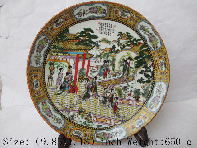 Chinese classic a dream of red mansions. (twelve gold hair pin) porcelain plate