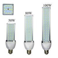 Алюминий сплав, 30 Вт, 40 Вт, 50 Вт, 60 Вт, 80 Вт, 100 Вт Светодиодный светильник E27 B22 E40 110 V или 220 V кукурузы лампы высокой Мощность энергосберегающие ...
