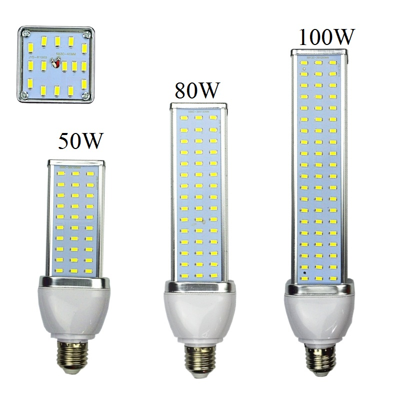 Aluminum Alloy 30W 40W 50W 60W 80W 100W LED Lamp E27 B22 E40 110V Or 220V Corn Bulb High Power Energy-saving 5630 5730 SMD Light