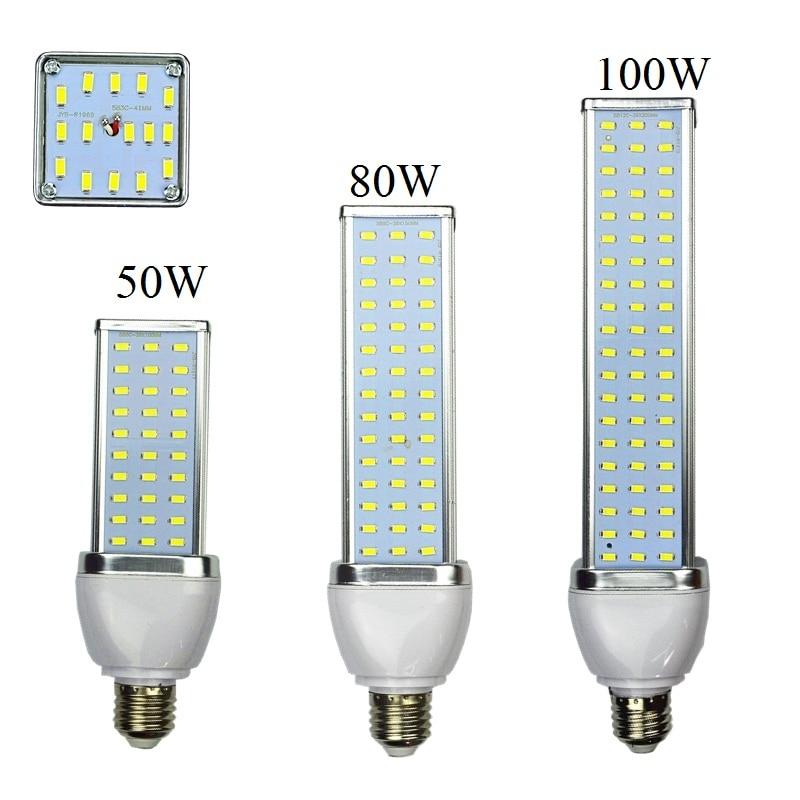 Aluminum Alloy 30W 40W 50W 60W 80W 100W LED Lamp E27 B22 E40 110V Or 220V Corn Bulb High Power Energy-saving 5630 5730 SMD Light