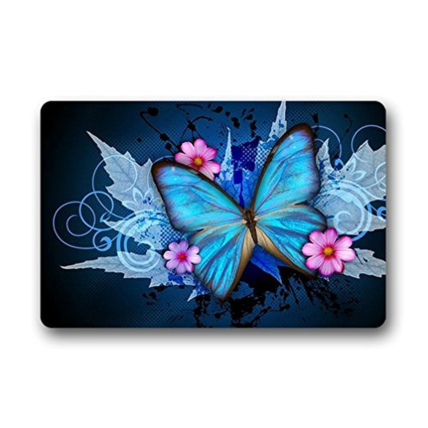 Homie Design Door Mats Little Fairy Butterfly Outdoor/Indoor Rubber Backed Non-Slip Front Door Entrance Doormat
