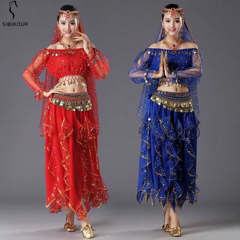Women Belly Dance Costume Sets Bollywood Oriental Belly Dance Dress Dance Skirt Egypt Egyptian Dance Wear For Adult 6 Colors