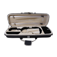 High Grade Waterproof Over-edging Violon Violin Case Full Size 4/4 Black Canvas Violino Case Professional Violin Accessories(China)