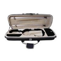 High Grade Waterproof Over edging Violon Violin Case Full Size 4/4 Black Canvas Violino Case Professional Violin Accessories