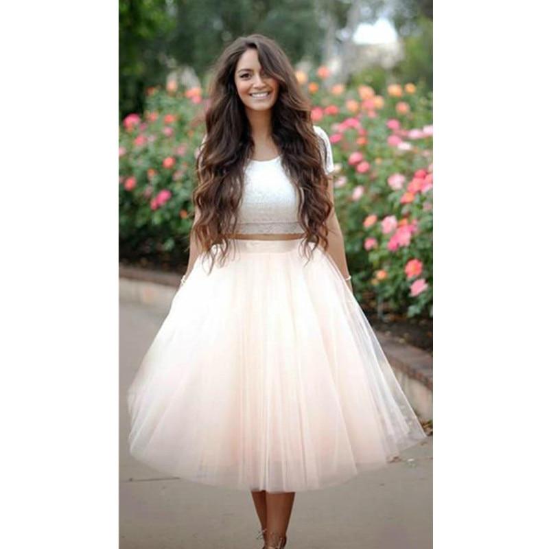 Layered Tulle Ballet Full Pleated Circle Flare Midi Long Length High Waist Skirt