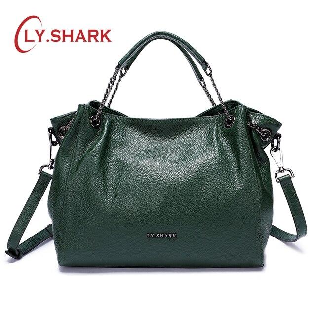LY.SHARK Women's Bag Messenger Bag Women shoulder Bags For Women 2019 Luxury Handbags Designer Female Bag Ladies Genuine Leather