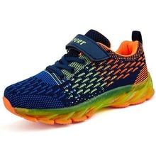 Обувь для бега для мальчиков и девочек; Детские кроссовки с резиновой подошвой; уличные спортивные кроссовки; Повседневная модная школьная дышащая обувь для мальчиков