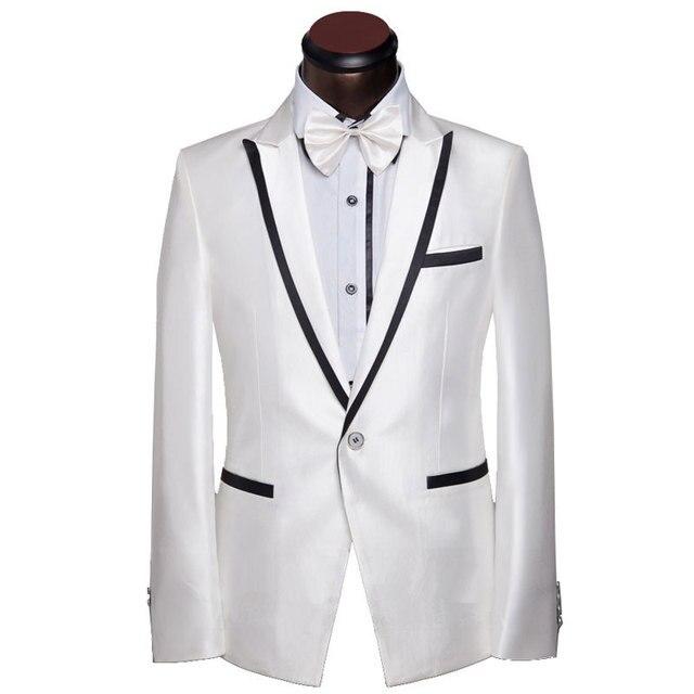 2016 New Men Suit Lastest Design Mens Slim Shinny White Prom Tuxedo ...