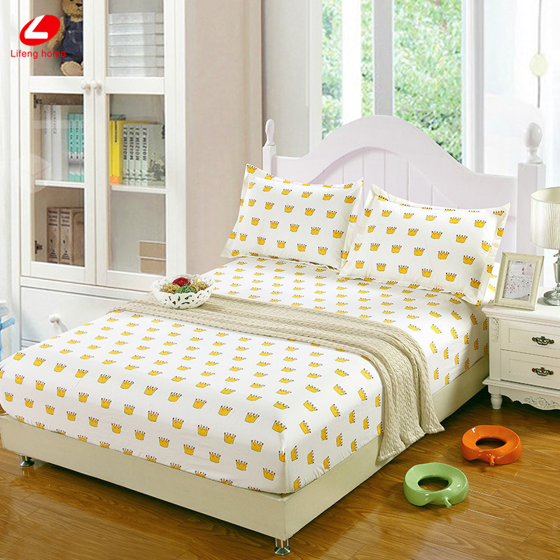 Home textile bed sheet sheet flower mattress cover printing bed sheet elastic rubber bedclothes 180*200cm summer bedspread band 33