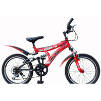 Cycling Mountain Bike High Quality Carbon Steel Material 6 Speed 20 Inch Pedal Full Shockingproof Frame