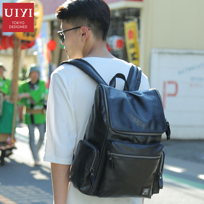 UIYI Brand New Design Men Backpack PU Bag Men Travel Backpack 14' laptop Backpacks Male Fashion Travel bag Package For Male 2018 youpop kpop blackpink album laser pu bag jewelry admission package new fashion backpack bags sjb618