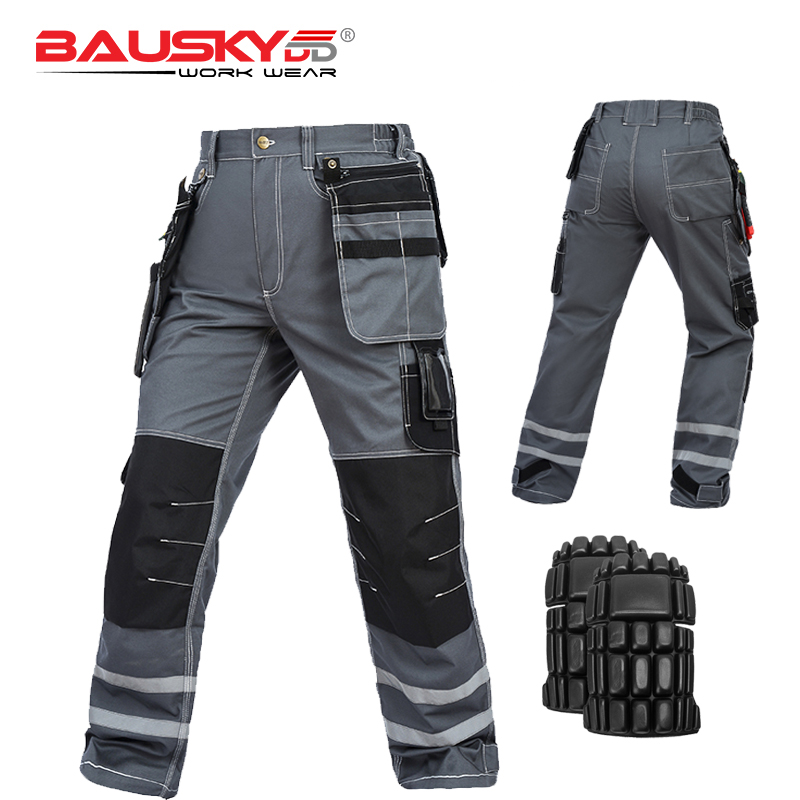 Image 5 - New High Quality Craftsman Men's Work Pants Workwear Multi Pockets Work Trousers Mechanic Workwear Free Shipping-in Safety Clothing from Security & Protection