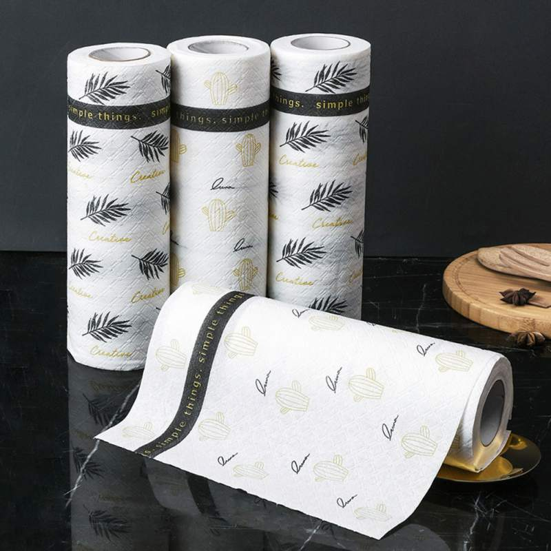 Nordic Reusable Oil-absorbing Cleaning Towel Kitchen Dish Paper Towel Household Cleaning Cloth Kitchen Towel Household Tool