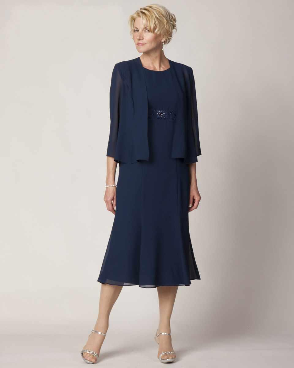 Popular Navy Blue Evening Dress with Jacket-Buy Cheap Navy Blue