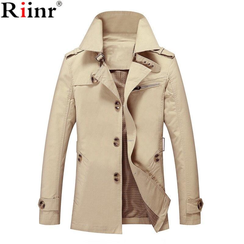 Riinr Män Jacka Coat Lång Sektion Mode Trench Coat Jaqueta Man - Herrkläder - Foto 3