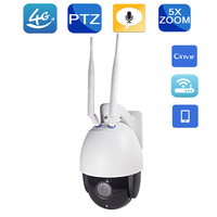 YSA 3G 4G Wireless PTZ Dome IP Camera Outdoor 1080P HD 5X Zoom CCTV Security Video