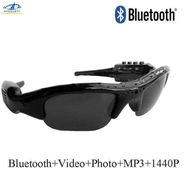 035d70a8af HFSECURITY 1440P HD Bluetooth Photo Video Sunglasses Camera Mini DV  Camcorder Outdoor Mini Lenses Camera Glasses MP3 Player