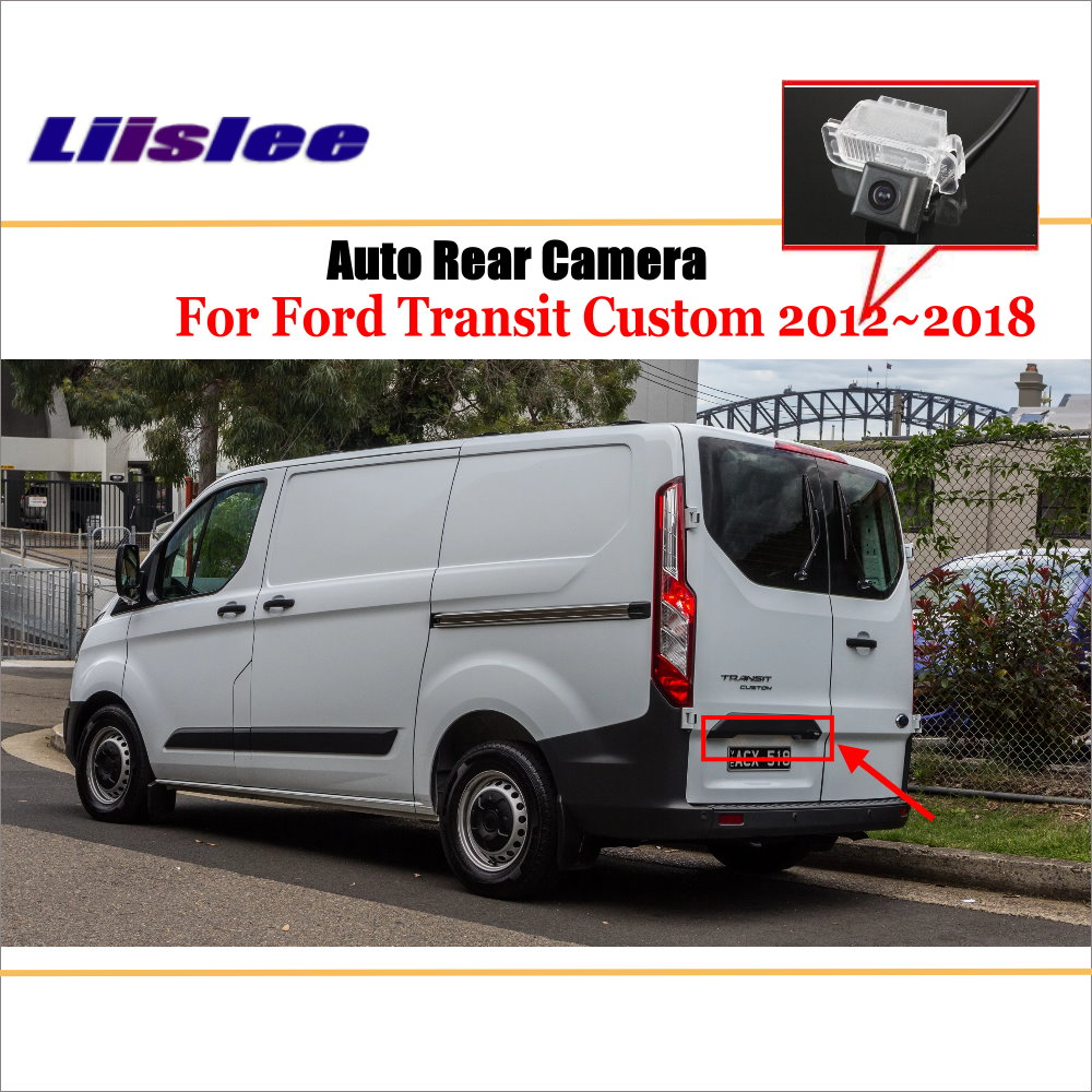 Reverse Camera For Ford Transit Custom 2012~2018/ HD CCD Night Vision / Car Rear Camera / License Plate Light Camera
