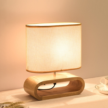 Modern table lamp wood base cloth lampshade table lamps for living room bedroom bedside desk lamp reading lights lw514342py