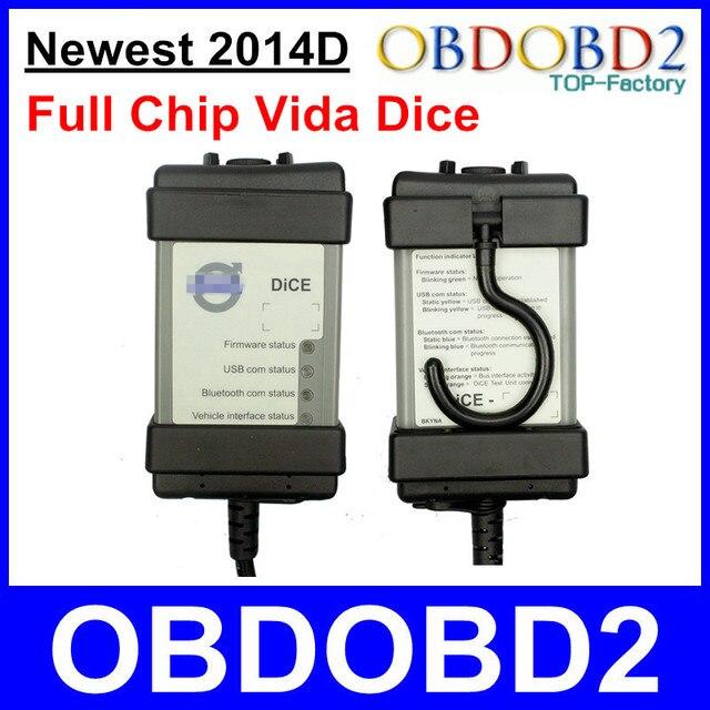 Последним 2014D Volvo Vida Dice OBD2 Диагностический Инструмент Для Volvo Vida Dice Pro Мощный Интерфейс Авто Сканер Полный Чип PCB