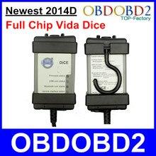 Más nueva 2014D Para Dados de Volvo vida Herramienta de Diagnóstico OBD2 Para Volvo Vida Dados Pro Potente Chip de Interfaz de Escáner Automático Completo PCB